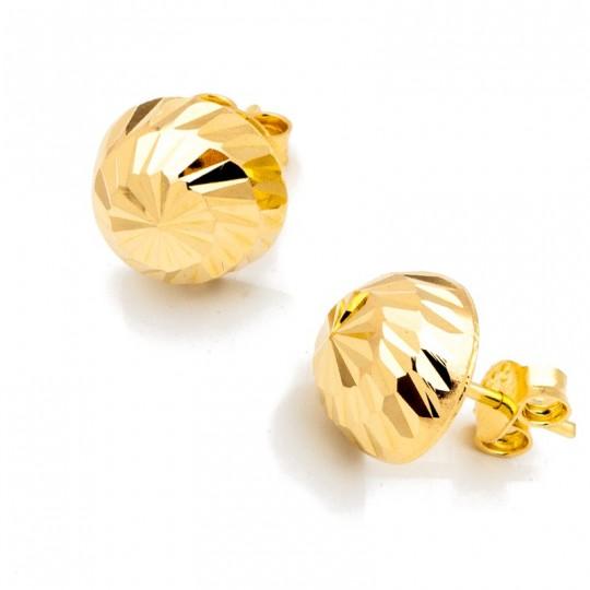 Kolczyki Złote Półkulki 12mm