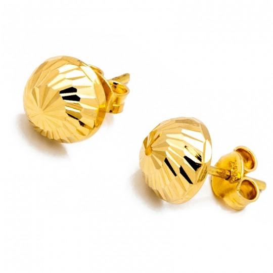 Kolczyki Złote Półkulki 10mm