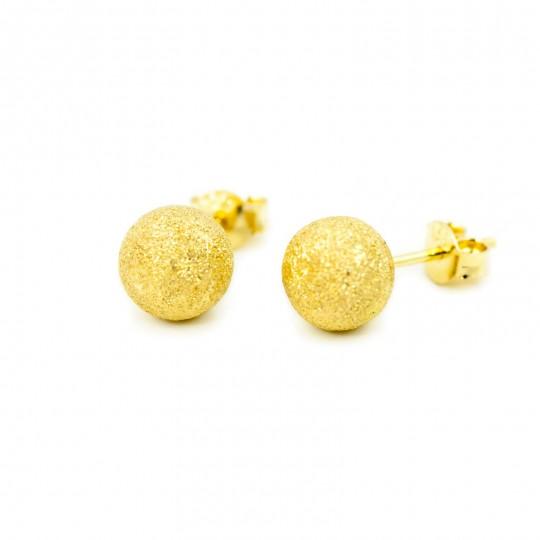 Kolczyki Złote Kulki 8mm