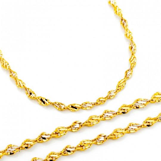 Łańcuszek Złoty Rebeka 45cm/1,7mm