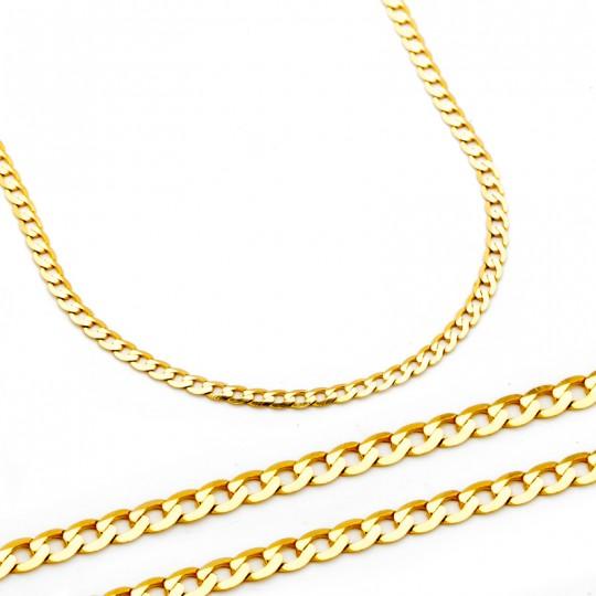 Łańcuszek Złoty Pancerka 45cm/1,9mm