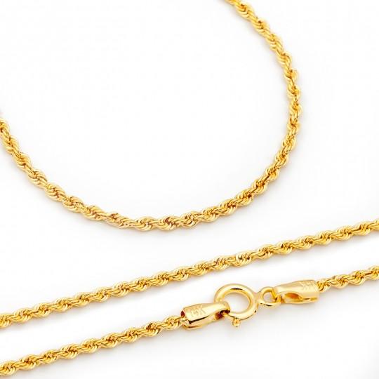 Łańcuszek Złoty Korda 55cm/2,0mm